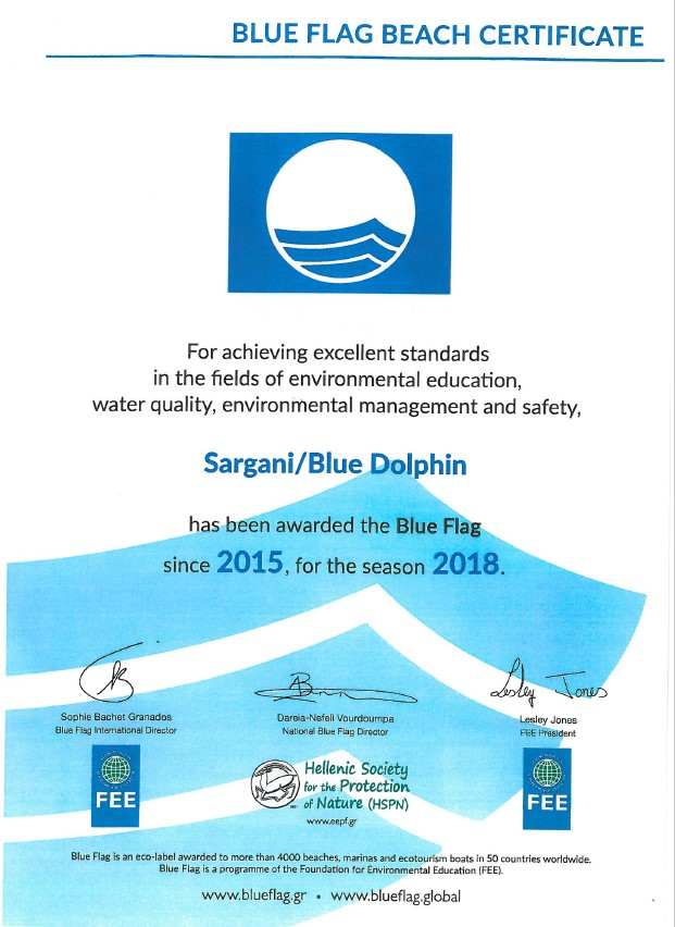 bluedolphin hotel BLUE FLAG